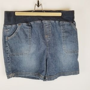 New Additions maternity Jean shorts large